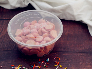 火龙果溶豆,成品