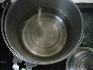 百变水果  木瓜汤,锅内放入适量的水