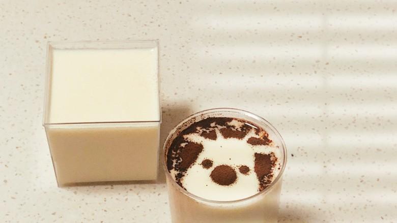 快手姜撞奶,最后可以撒点可可粉做装饰ヾ(❀╹◡╹)ノ~