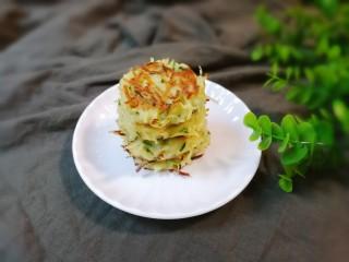 葱香土豆鸡蛋饼,带着花生葱香味的土豆鸡蛋饼特别香好吃