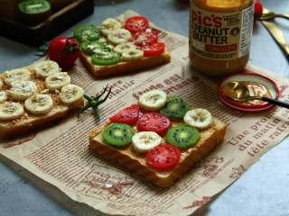 #百变水果#  水果花生酱吐司片,不管怎么吃都香香的,营养均衡、美味方便