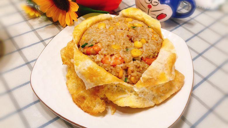 蛋包虾仁炒饭-宴请菜之主食