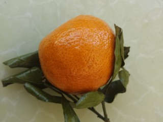芝士酸奶水果沙拉,一个橘子。