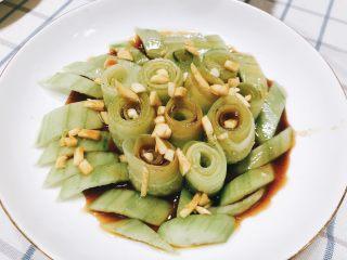 无油凉拌开胃黄瓜-可做减肥晚餐,成品图。