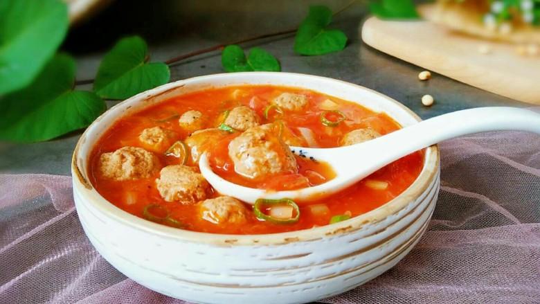 中餐厅~番茄牛丸汤