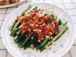 蒜香剁椒黄秋葵-下饭菜,成品图。