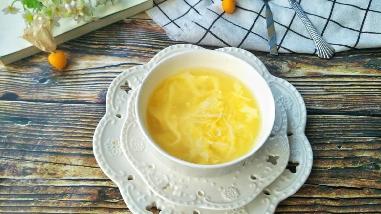 玉米蛋花汤,成品
