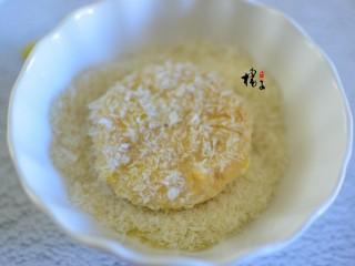红薯糯米饼,裹上一层面包糠