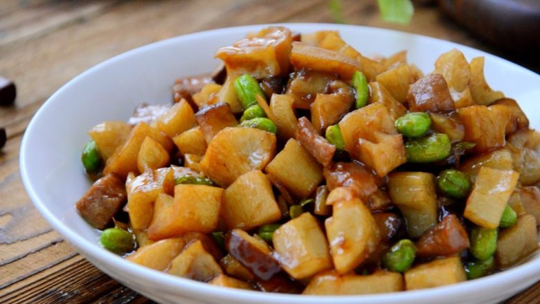 莲藕肉丁,超级下饭菜。