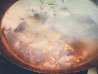 浓郁奶白鲫鱼汤,大火烧开