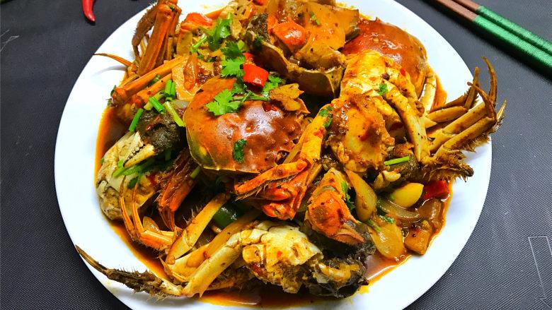 香辣大闸蟹,味道鲜美,香辣过瘾的香辣大闸蟹。