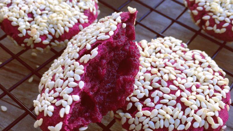 红糖紫薯饼