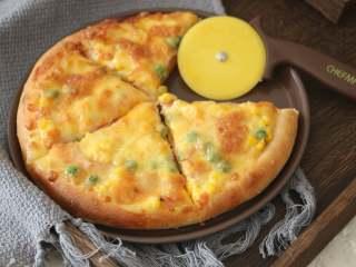 自制培根披萨,好吃