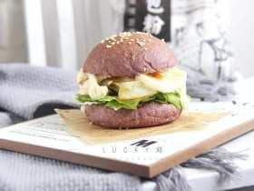 黑米鸡蛋蔬菜汉堡