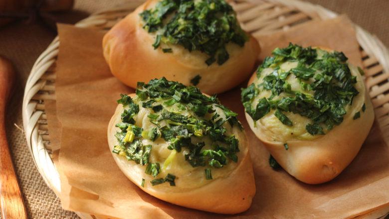 让人吃后难忘的葱多多面包【台式香葱包】,成品