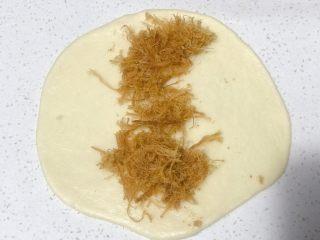 浅湘食光&香肠肉松面包,放肉丝