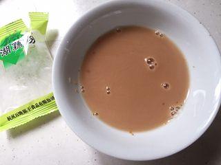 快手小食 酒酿圆子,藕粉用水调开