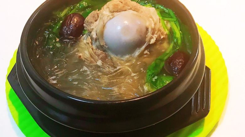 棒骨菠菜粉丝汤