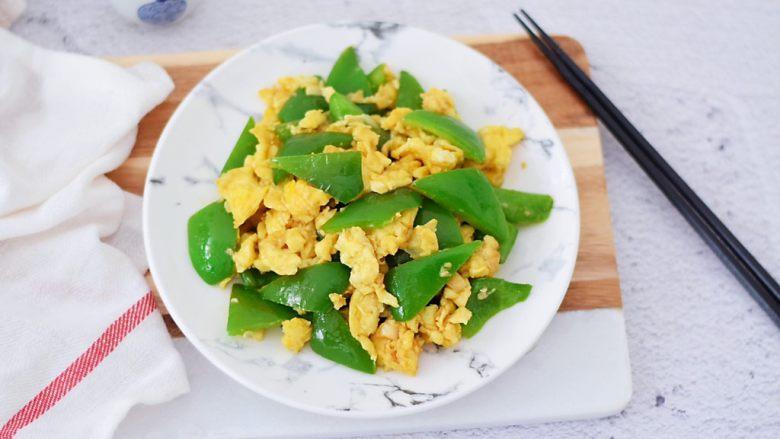 青椒炒鸡蛋,成品图