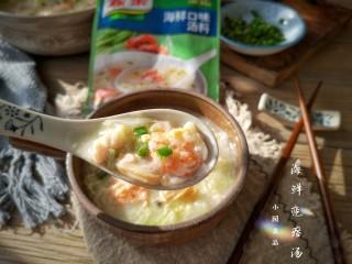 海鲜疙瘩汤,味道鲜美!