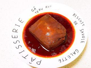 红油猪血豆腐,红油猪血豆腐出锅了