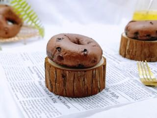 懶人必做~巧克力貝果,還可以從中間切開做三明治哈
