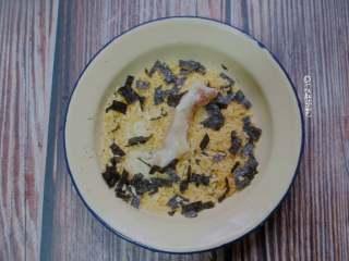 海苔鸡柳,最后再裹上一层海苔面包糠。