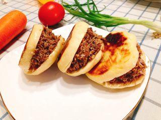 家庭版肉夹馍-早餐,成品图。
