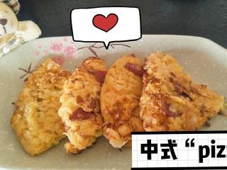 中式pizza--香肠卷心菜蛋饼