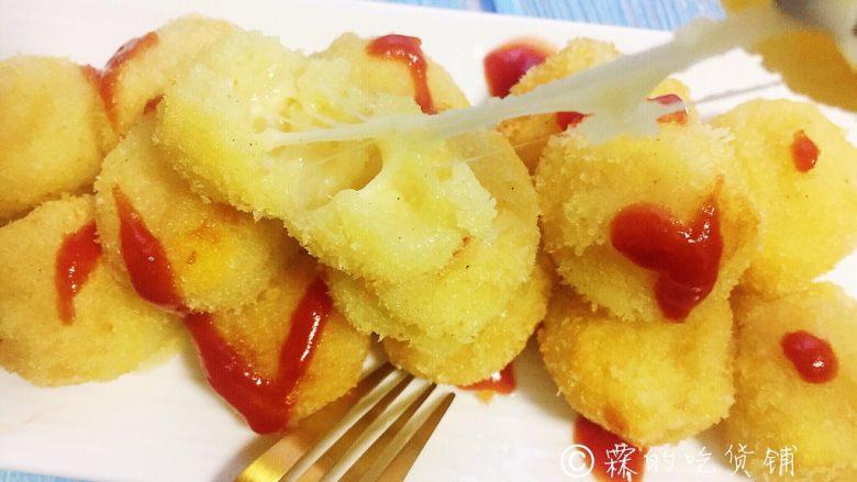 芝士土豆球——土豆的N种吃法2,趁热食用,完美的拉丝,哈哈