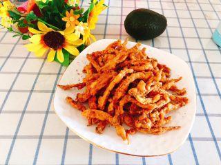 杏鲍菇吃出肉的味道-椒盐杏鲍菇,成品图。
