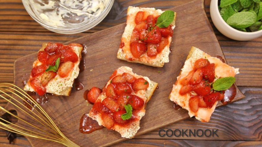 草莓奶酪法棍