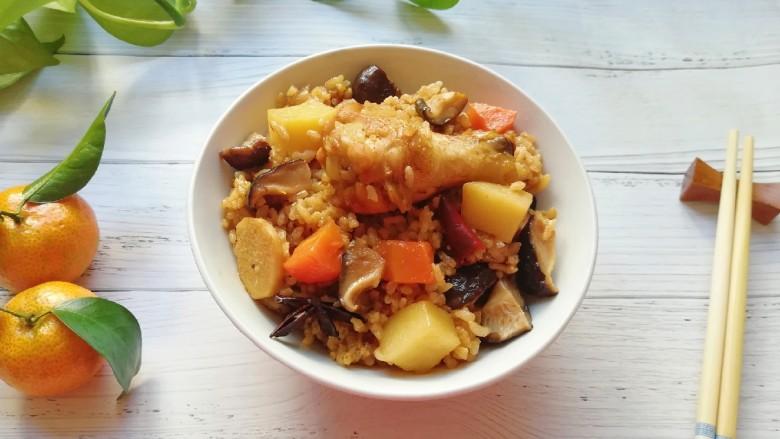 翅根香菇焖饭, 超级好吃的焖饭。