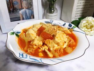 西红柿菜花炖豆腐