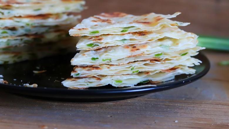 饺子皮版葱香酥饼