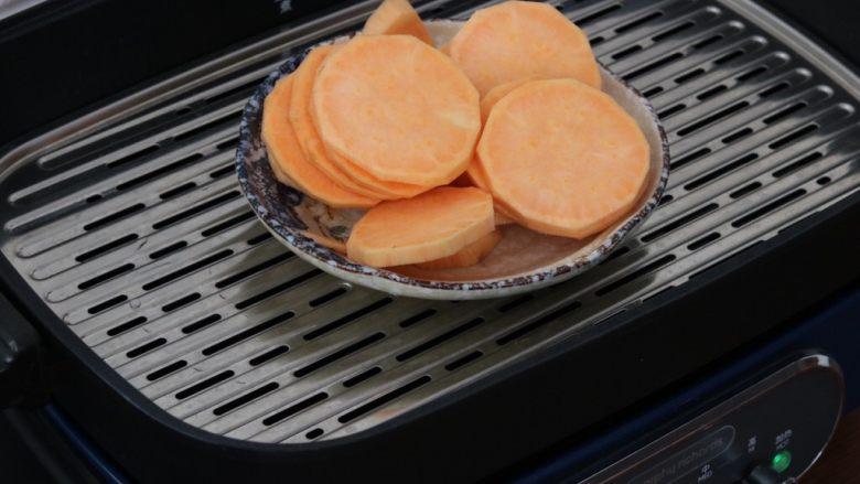 红薯小面包,<a style='color:red;display:inline-block;' href='/shicai/ 2585'>红薯</a>去皮蒸熟