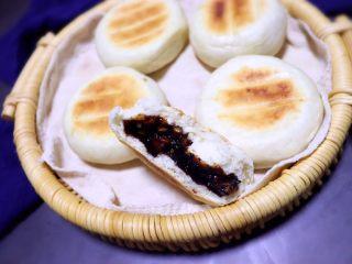 黑芝麻核桃红糖饼,刚出锅超级好吃