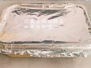 宝宝版午餐肉,防止有气泡产生,并且盖上锡纸或者倒扣一个盘子,防止水蒸气回流