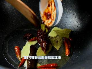红烧牛腩炖萝卜—入冬了,来上这一锅马上让你整个人都暖起来,加1勺郫县豆瓣酱炒出红油。