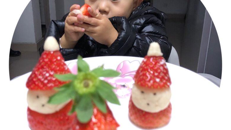 草莓圣诞老人,成品