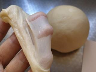 豆沙大理石纹吐司,揉出可以拉出薄薄的手套膜