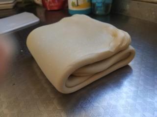 豆沙大理石纹吐司,再像叠被子一样3折叠起