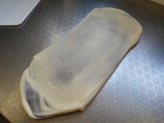 豆沙大理石纹吐司,再次擀开