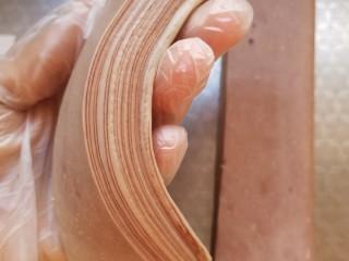 豆沙大理石纹吐司,切面层次
