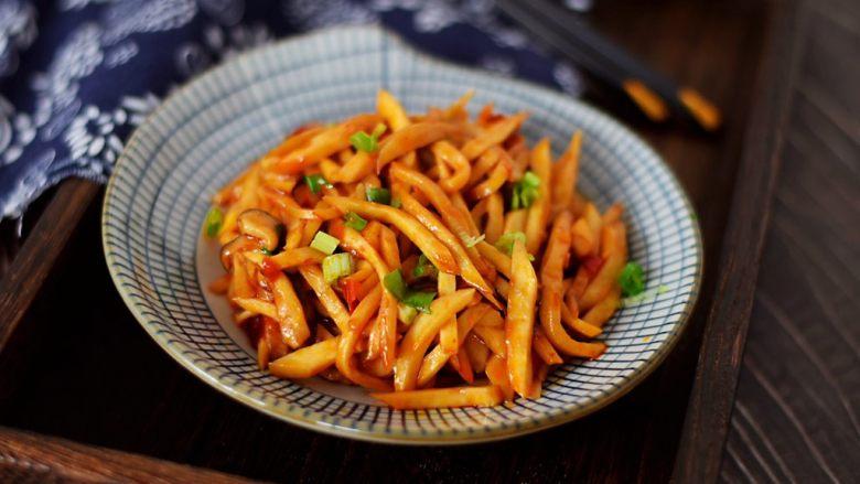 炒杏鲍菇,成品图