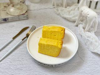 美容养颜、营养健康的南瓜戚风蛋糕,成品图