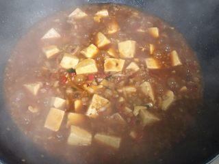 麻婆豆腐,咕嘟3分钟左右