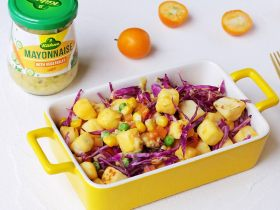 馒头蔬菜什锦沙拉