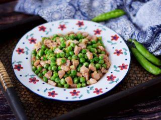 豌豆炒肉丁,成品图