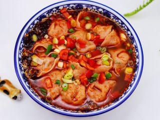 超爽的酸汤馄饨,老公吃的连汤都没有剩下。